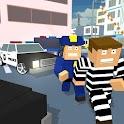 Blocky Cop Craft Running Thief icon