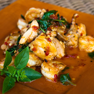 Shrimp & Chicken With Chili Paste & Basil