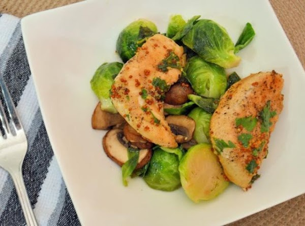 Dijon Chicken And Sprouts Recipe