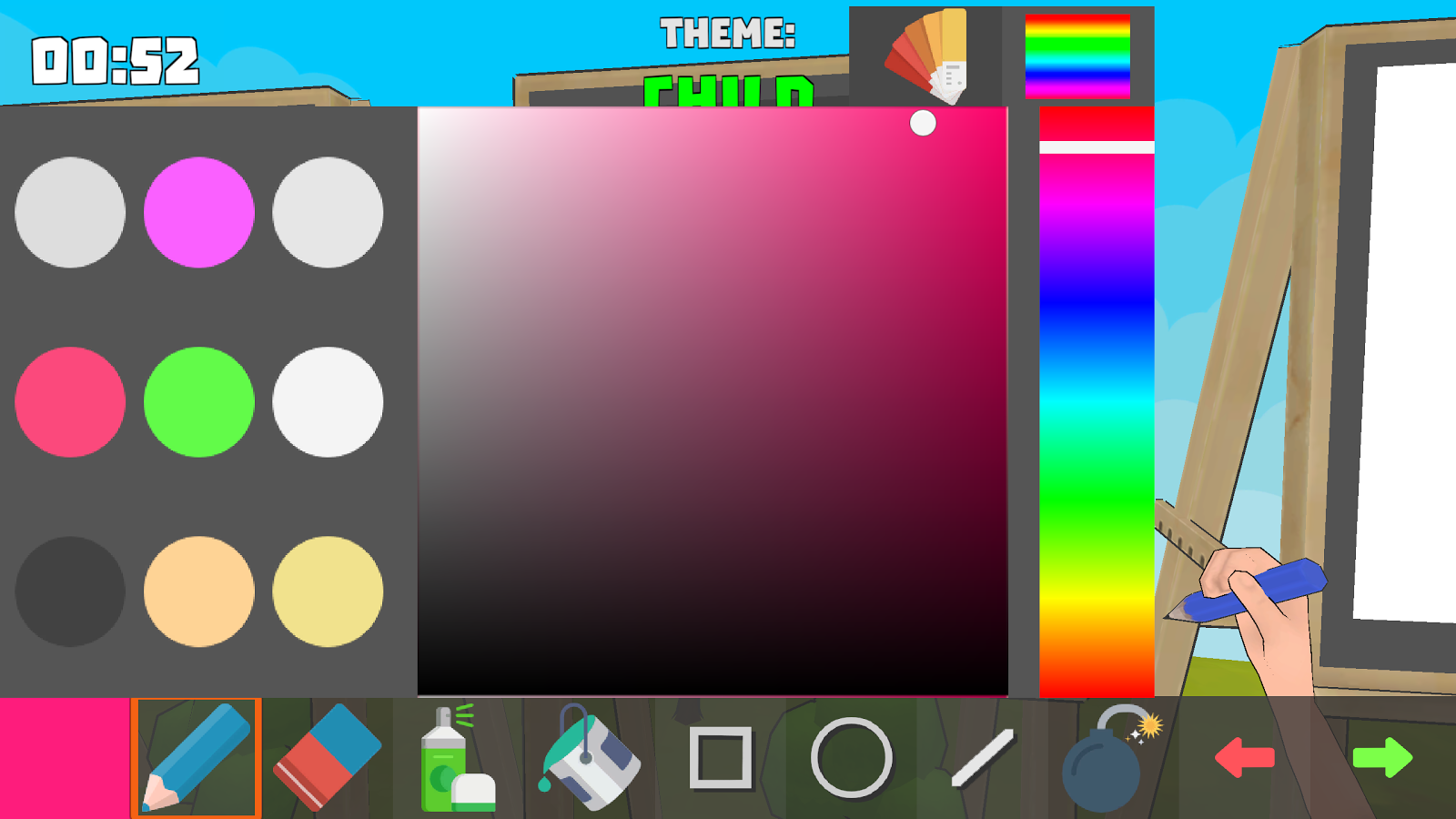 Draw online battle of painters android apps on google play for Online drawing app