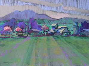 Photo: Sand Creek Ranch, pastel by Nancy Roberts, copyright 2014. Private collection.