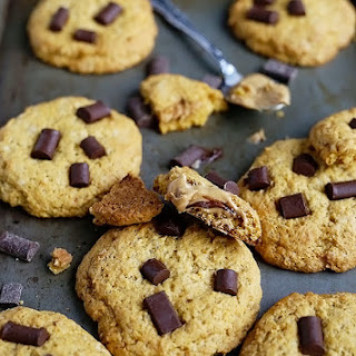 Chocolate Chip PB Stuffed Cookies