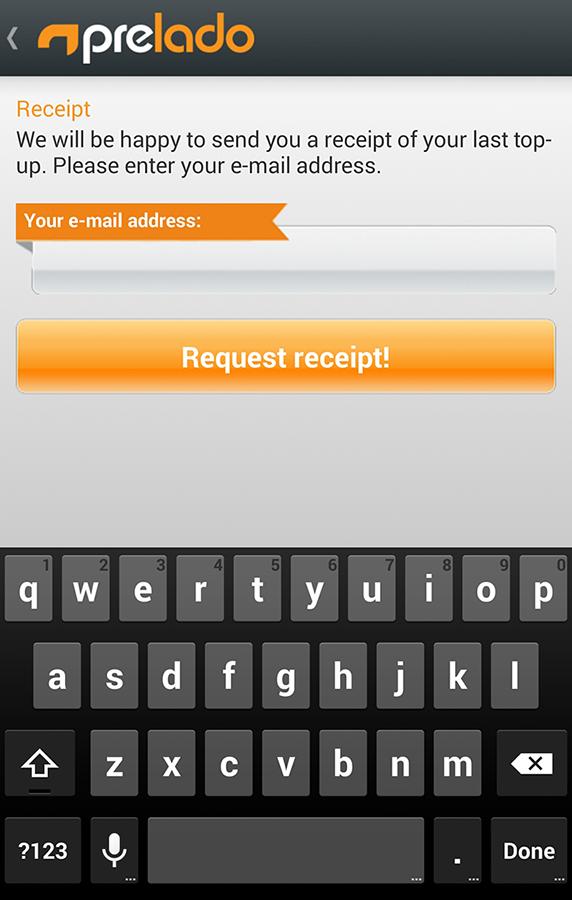 prelado - Prepaid Top-up- screenshot