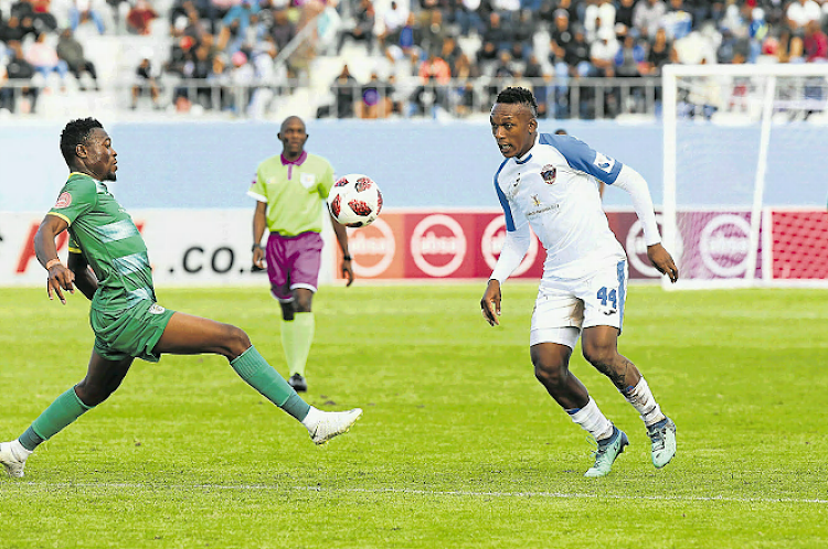 Chippa United played against Baroka at Sisa Dukashe stadium on saturday