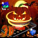 Halloween Pumpkin 3D Night Theme 🎃 icon