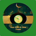 Prayer's Time Auto Silent and Qibla Finder Compass icon