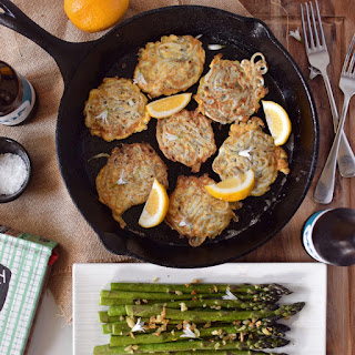 Whitebait Fritters With Asparagus.