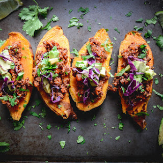 Paleo Chili Stuffed Sweet Potatoes Recipe