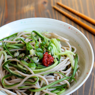 Sweet & Sour Cucumber Noodles with Soba