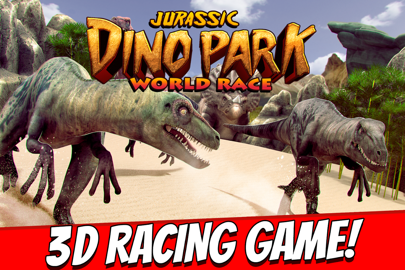 Jurassic Dino Park World Race- screenshot