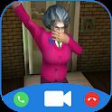 Teacher Horrible Video Call - Chat Prank icon