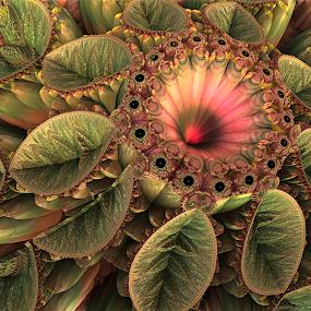 Love Flower by Glenda Popielarski - Illustration Abstract & Patterns ( abstract art, quote, fractal art, digital art, raw fractal, fractal, quotation, flower )