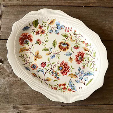 Country style serving plate