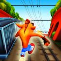 Subway Crash Jungle Fox Bandi. 3D Game Adventures icon