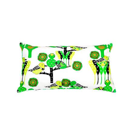 Kuddfodral Garden Party grön 33x58 cm