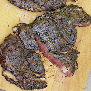 Rib-Eye Steaks Rubbed with Coffee and Cocoa