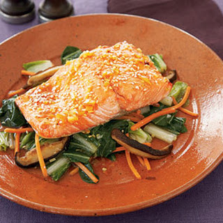 Ginger-Soy Salmon and Bok Choy
