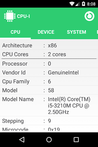 CPU I : System Hardware info