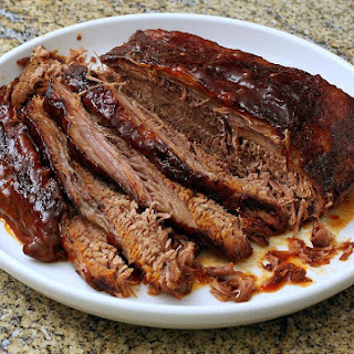 Slow Cooker Spiced Brisket With Barbecue Flavors.