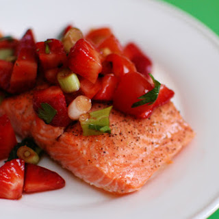 Salmon with Strawberry and Tomato Salsa