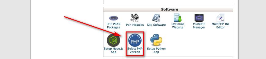 Checking PHP Version via cPanel