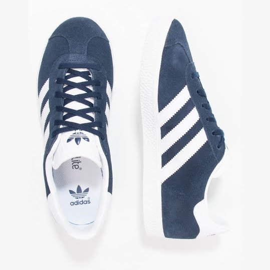 Adidas Originals Gazelle Junior Navy/White Stl: 37 1/3