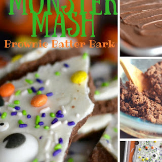 Monster Mash Brownie Batter Bark