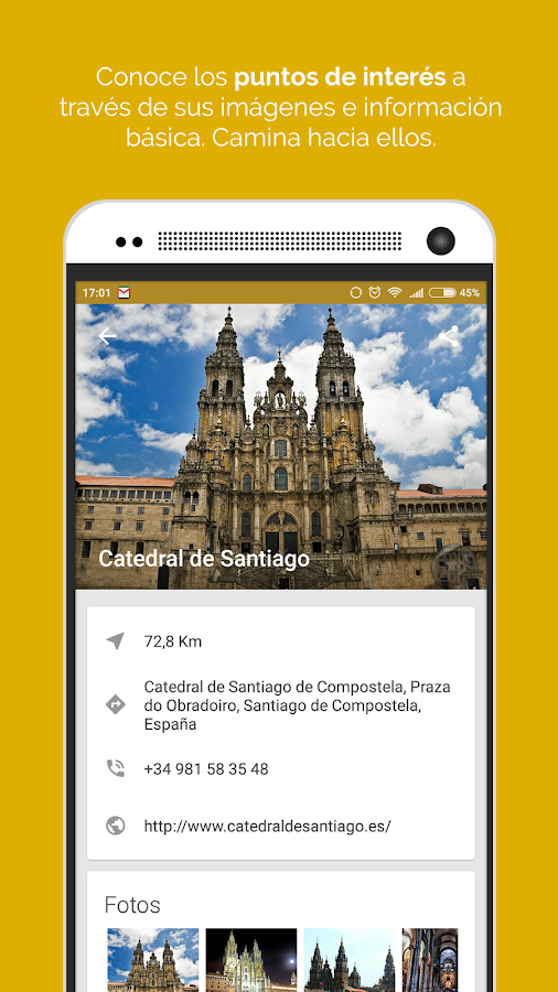 Camina APP- screenshot