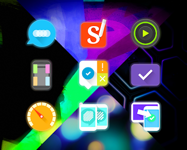 GlowPop - Neon Icon Pack v1.0