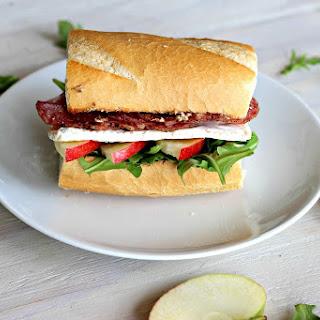 Salami, Apple & Brie Sandwich.