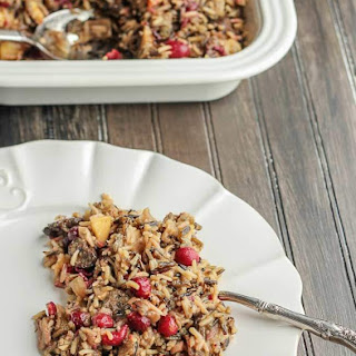 Cranberry Stuffing with Apples, Mushrooms and Wild Rice