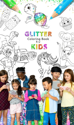 Glitter Coloring Book for Kids: Kids Games  screenshots 1
