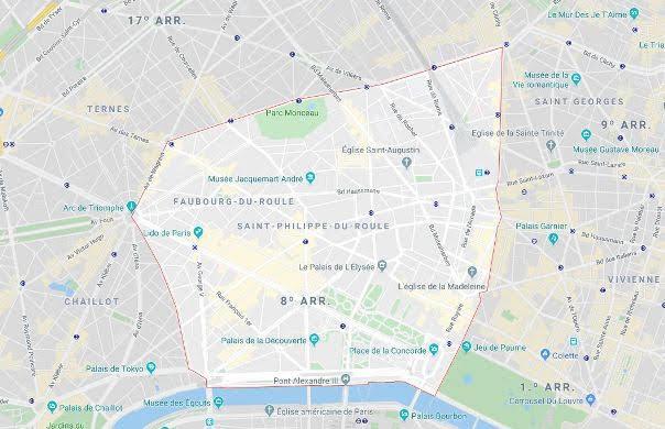 8º arrondissement de l'Élysée