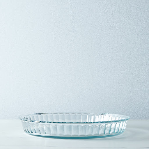 Fluted Borosilicate Glass Tart Pan