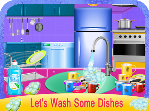 Girls House Dish Washing Kitchen Cleaning Game 1.0.2 de.gamequotes.net 1