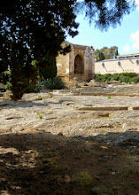 Photo: Hellenistic ekklesiasterion with the church of San Nicola (13th century)