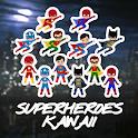 How to draw SUPERHEROES KAWAII icon