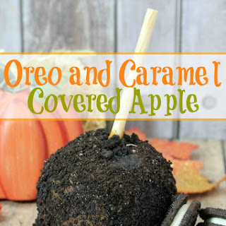 Oreo and Caramel Covered Apples