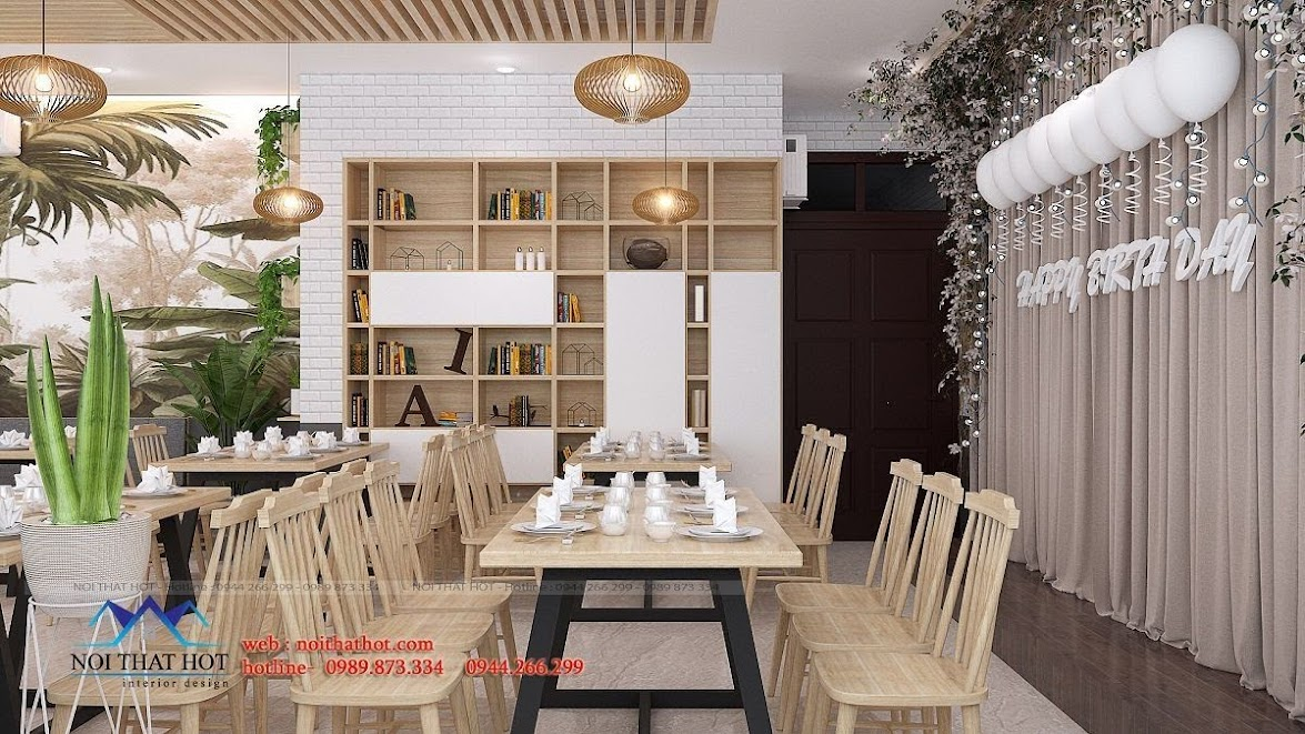 thiết kế nhà hàng dẹp, giá hợp lý 12