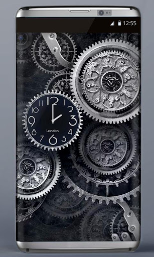 FREE Black Clock LiveWallpaper  screenshots 1