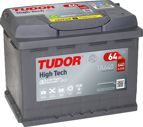 Tudor/Exidebatteri 12V64Ah