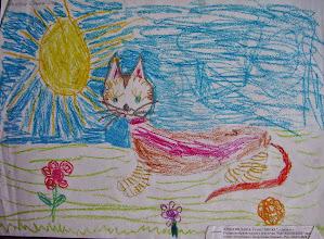 Photo: Лопатин Даша. 3 года. Киска. Студ. Натальи Ланге. Израиль. г. Беэр-Шева
