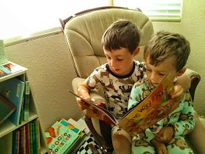 Photo: Clark Reads to Finn