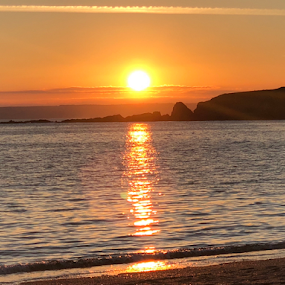 South Milton Sands in the South Hams by ADW Photography - Landscapes Sunsets & Sunrises ( #sunset #orange #calm #sea #iphonography )