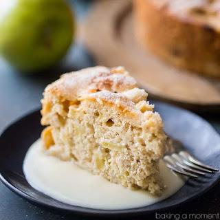 Irish Apple Cake with Whiskey Hard Sauce Recipe