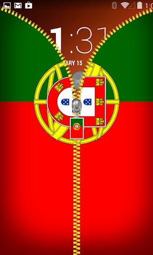 Portugal Flag Zipper Locker