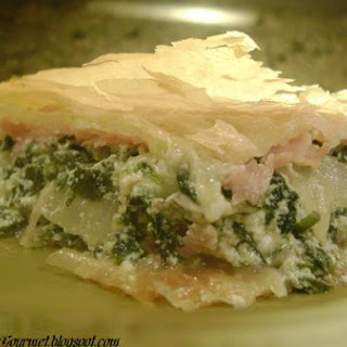 Spinach Pie With Ham.