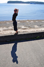 Photo: Stopping to stretch legs at Departure Bay, Nanaimo, on Vancouver Island, British Columbia. I taught nature studies and history on Newcastle Island (a park)in the background.