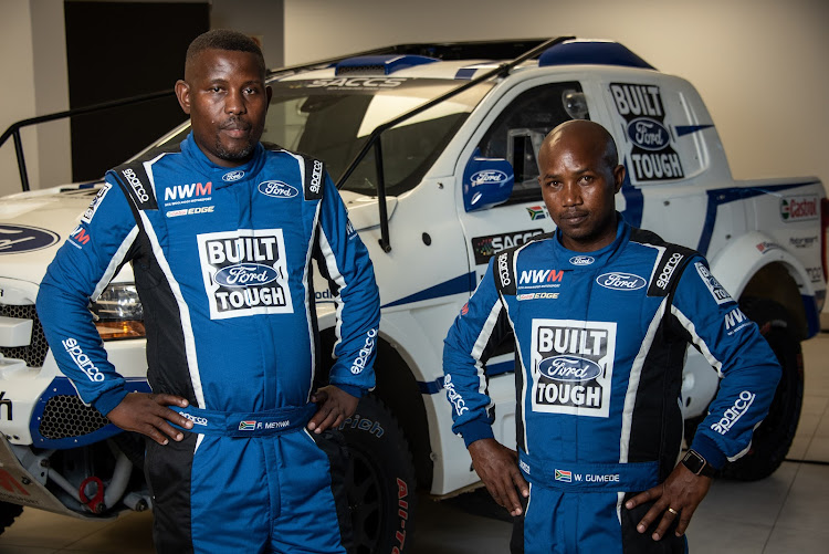 Fanifani Meyiwa, left, and Wiseman Gumede will race a Ford Ranger built by Neil Woolridge Motorsport. Picture: SUPPLIED
