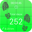Pedometer and step counter icon